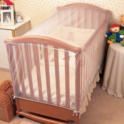 Insect Net Fine Pre-Shaped White Mesh for Baby Cot & Cot Be Secure Drape Cover