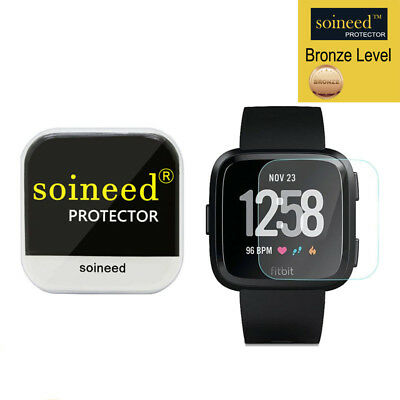 [1-PACK] SOINEED Tempered Glass Screen Protector Film For Fitbit Versa Watch