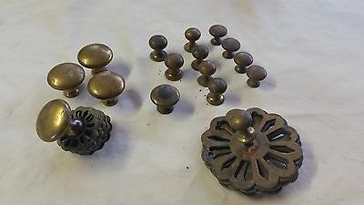 Vintage Brass Cabinet Kitchen Drawer Knobs Unique Cupboard Pull Knob Large Lot