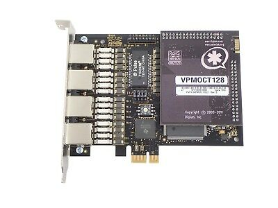 Digium TE420 Quad T1/E1 PCIe Card w/ VPMOCT128 Echo Cancellation Module