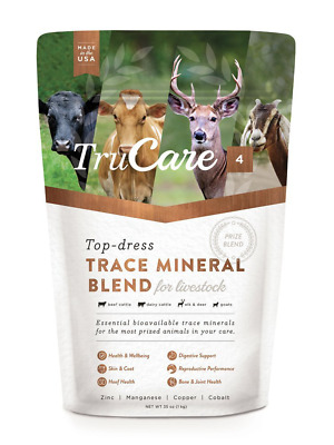 TruCare 4 Top-dress Trace Mineral Blend for Livestock Cattle Deer & Goat 32oz