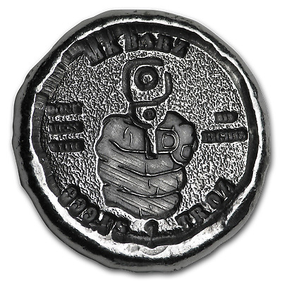 1 oz Hand-Poured Silver Round - Right to Bear Arms - SKU#168206