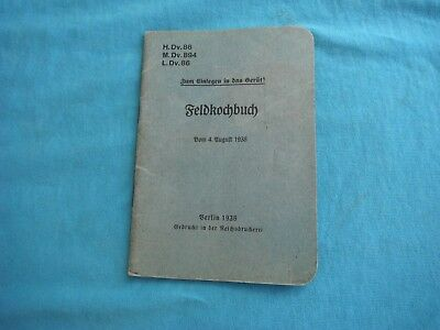WWII German book,  Feldkochbuch, 1938 edition, Berlin