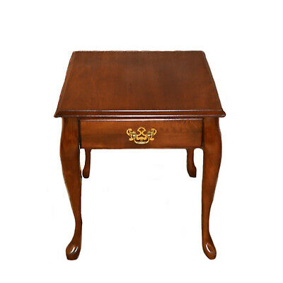 Vintage Solid Cherry Queen Anne Side Table W Drawer 69 00