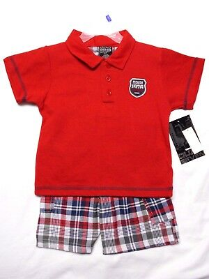 "NWT - Boy's ""Quad Seven"" Polo Shirt & Shorts Outfit/Set  size 3T"