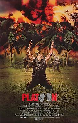 Retro Platoon Movie Poster Fridge Magnet - Charlie Sheen