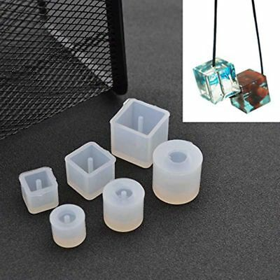 6Pcs Round Square Silicone Mold Mould Casting Resin for Jewelry Pendant Ban H8V5