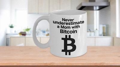 Mom with Bitcoin Coffee Mug Cryptocurrency Gift for Mother's Day