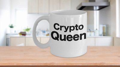 Crypto Queen Bitcoin Coffee Mug Cryptocurrency Gift for Mom, Wife, Girlfriend