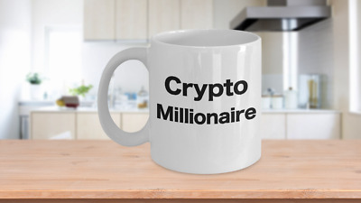 Cryptocurrency Millionaire Bitcoin Coffee Mug Funny Gift