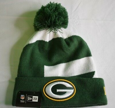 ... where to buy new era nfl mens green bay packers cuffed pom beanie toque cap  knit ... 41742d8a5