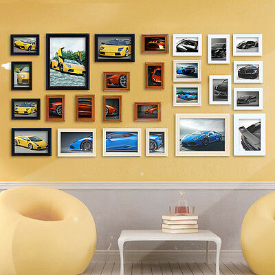 22 PCS WORD Family Is Photo Picture Frame Collage Set Black Home ...
