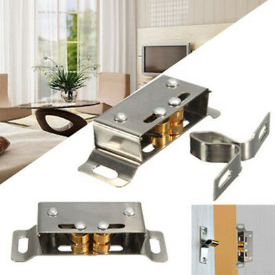 Double Roller Catch Cupboard Cabinet Spring Door Latch Double Twin Catches