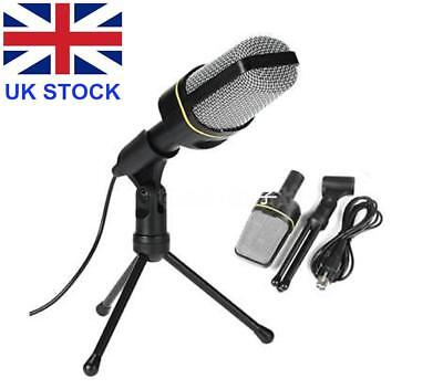 Desktop Podcast Microphone with Tripod for PC Computer Laptop 3.5mm Jack K0A1