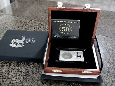 2017 50th Anniv. Krugerrand 2oz Silver Bar and 1oz Silver Coin Set, 3oz tw w/Box