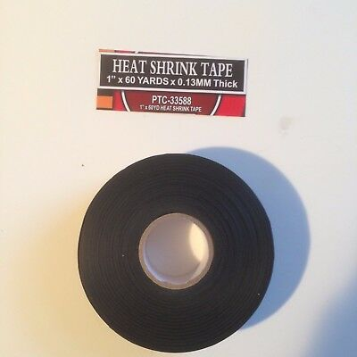 "1""x 60' BLACK HEAT SHRINK TAPE"