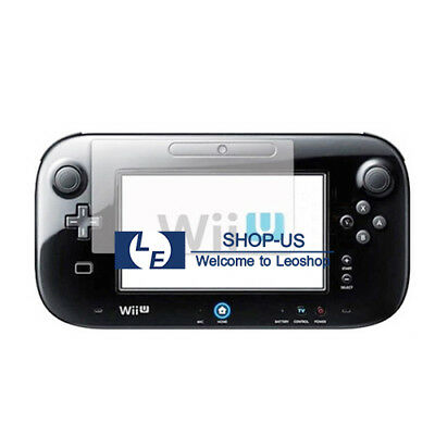 New 2x Clear Screen Protector Film for Nintendo Wii U GamePad Remote Controller