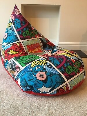 Sensational Childs Childrens Chair Beanbag Bean Super Hero Marvel Gmtry Best Dining Table And Chair Ideas Images Gmtryco