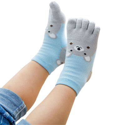 Cartoon Children Toes For Girl Boy Foot Kids Five Fingers Socks Bear