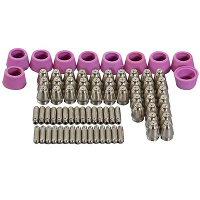 80pcs 60A SG-55 AG-60 WSD-60 Plasma Cutter Torch Tip Electrodes Consumables KITS