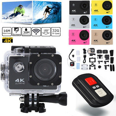 12MP 4K 1080P WIFI Sports Action Helm Kamera Wasserdicht Video DV Camera