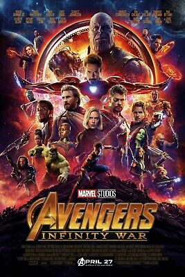 Avengers Infinity war Movie Framed Canvas home wall Picture choose your size