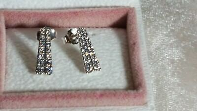 New Tags Authentic Pandora Earrings Shooting Stars Studs 296367cz 30 48 Picclick Uk