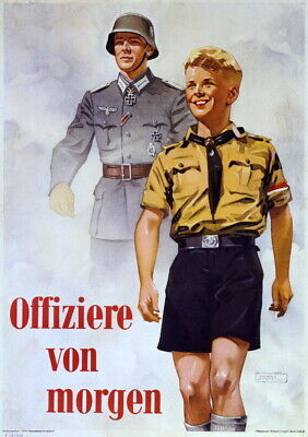 German WW2 Officers of Tomorrow Waffen SS Officer large Poster
