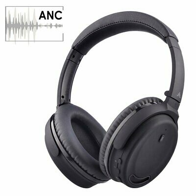 Avantree Active Noise Cancelling Bluetooth 4.1 Headphones with Mic, Wireless / W