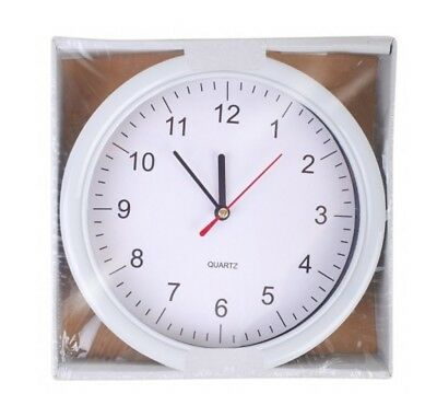 """8"""" Round Wall Clock for Bedroom-Kitchen-Modern Retro-Office-School_Analogue Time"""