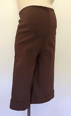 Funmum Maternity NEW Brown Shorts Size S (8-10)                [341]