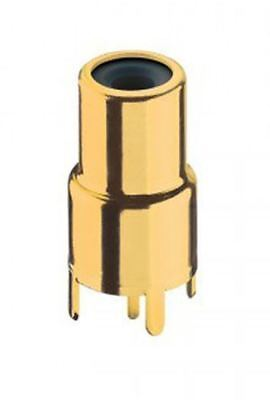 Lumberg Black, Gold PCB Mount RCA Socket with Gold Plated Contacts, 2A