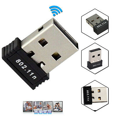 Mini USB 2.0 WiFi Adapter Wireless 802.11 b/g/n Network Dongle For PC Laptop