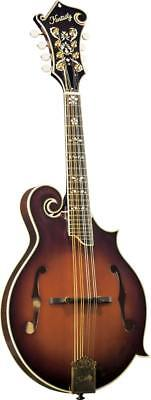Kentucky KM-855 BLUEGRASS MANDOLIN, Scroll body, F holes, solid carved top.