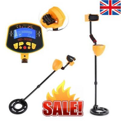 Metal Detector LCD Screen Deep Target Power Coins Treasure Hunting In/Outdoor UK