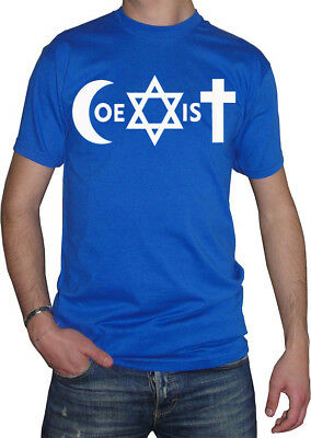 fm10 t-shirt uomo COEXIST coesistere tg xxl royal OUTLET