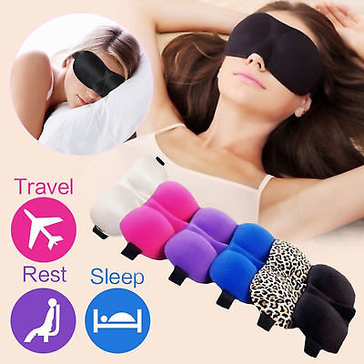 Travel 3D Eyes Mask Sleep Soft Padded Shade Cover Rest Relax Sleeping Blindfold