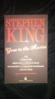 STEPHEN KING-GOES TO THE MOVIES- PRIMA EDIZIONE SPERLING & KUPFER 1ªed 2009