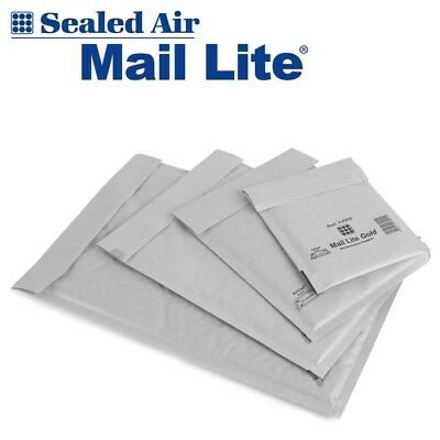 Mail Lite MailLite Padded Envelope Packaging A/000 to K/7 Postal Bags White Gold