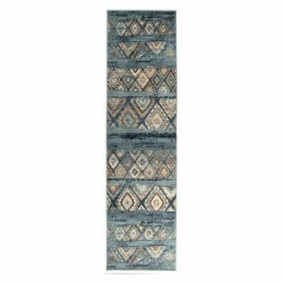 NEW Rug Culture Tilava Oriental Runner Rug, Blue