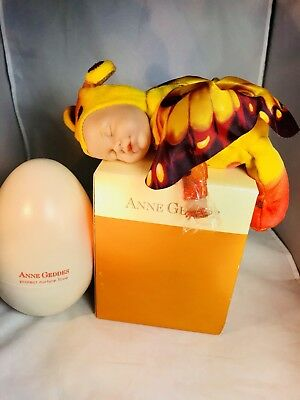 RARE Anne Geddes Orange Butterfly Doll Egg