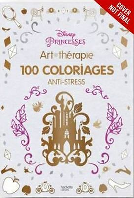 NEW Art Therapy Disney Princess 100 Images To Inspire Coloring Book