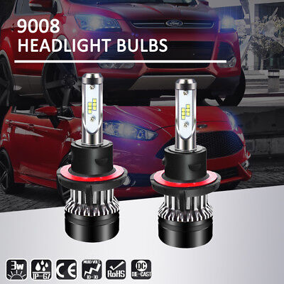 H13 9008 LED Headlight bulb Kit Hi/Lo 6000K 1280W 192000LM
