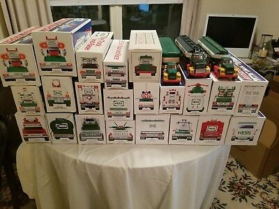 Toy Hess Truck Collection - Vintage - Recent - Large Lot of 25 **FREE SHIPPING**