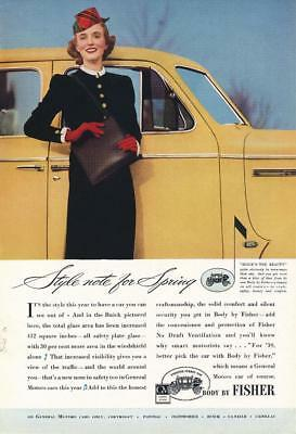 Vintage Magazine Ad - 1939 - Body by Fisher - Buick