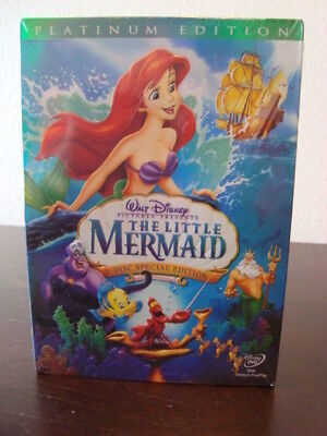 Disney's The Little Mermaid 2-Disc DVD Special Set, Platinum Edition, New Sealed