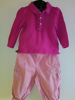 Ralph Lauren Very Nice Top and Trousers Size: 9-12 Months