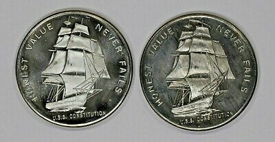Honest Value Never Fails 1 Troy Oz .999 Fine Silver Round Lot Of 2  (4255)