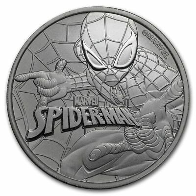 2017 Tuvalu Marvel Series Spider-Man 1 oz. Silver $1 Coin In Capsule (BU)