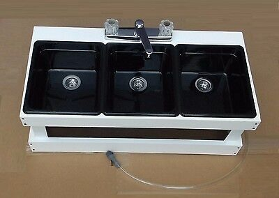Portable Sink Mobile Concession, 3 Compartment Sink, Table Top Sink BM3
